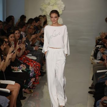 Theia Couture created a runway presentation that I loved at NY bridal fashion week