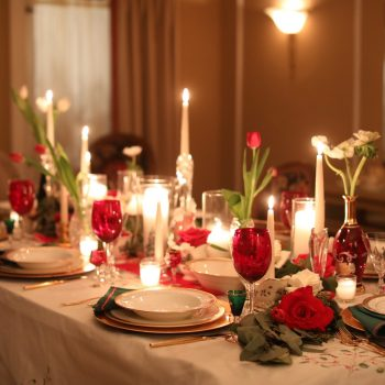Setting a beautiful holiday table