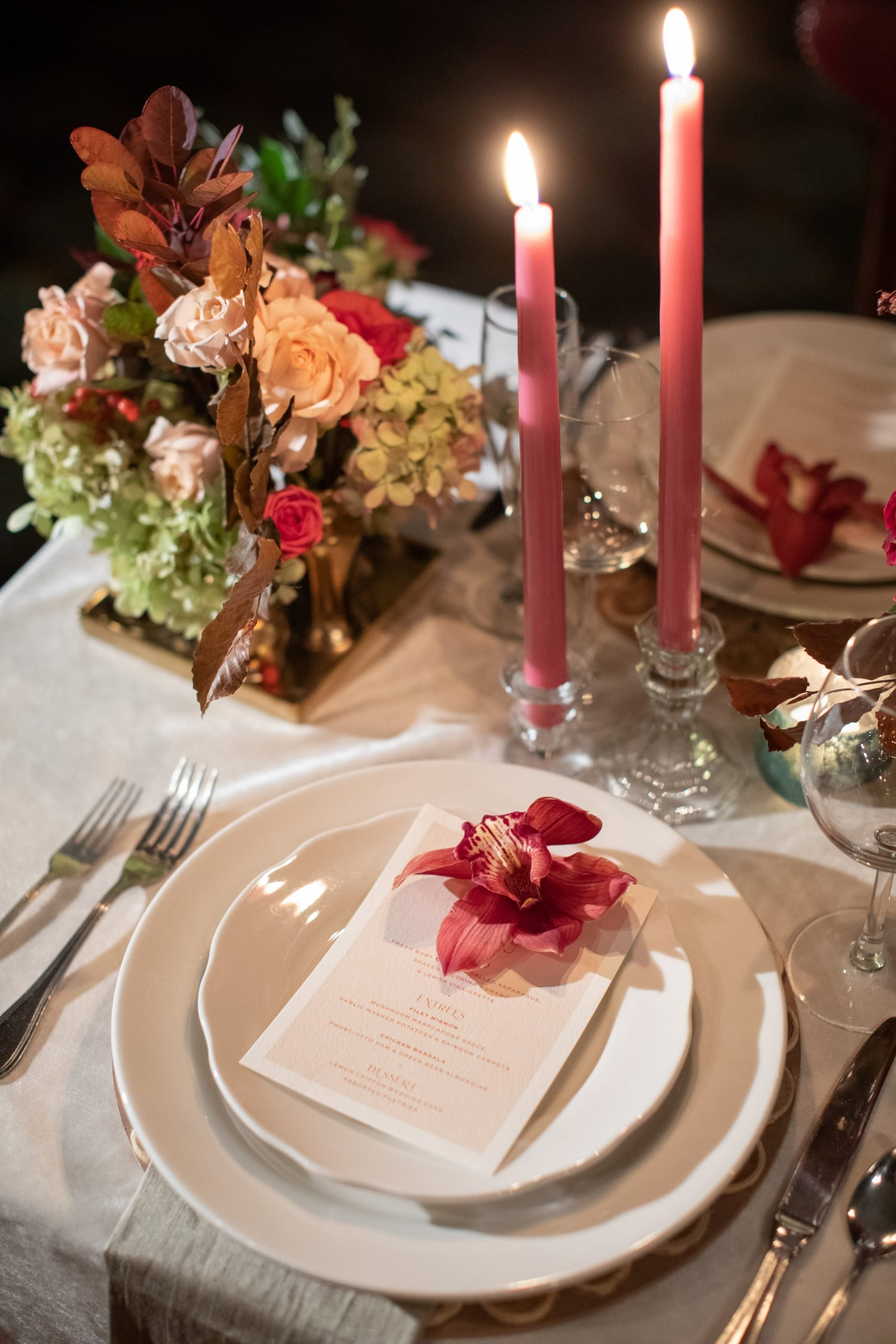 festive holiday tabletop decor